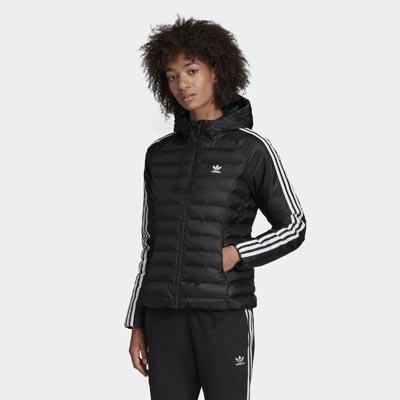 Μαύρο slim καπιτονέ μπουφάν - Adidas