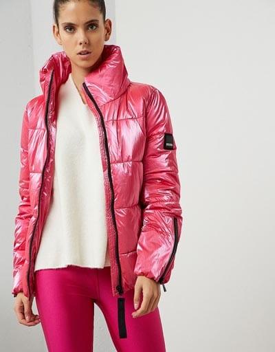 Ροζ μεταλλιζέ φουσκωτό μπουφάν - BSB