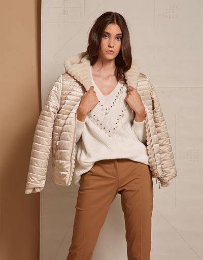 Jacket διπλής όψης με γούνα και καπιτονέ - BSB