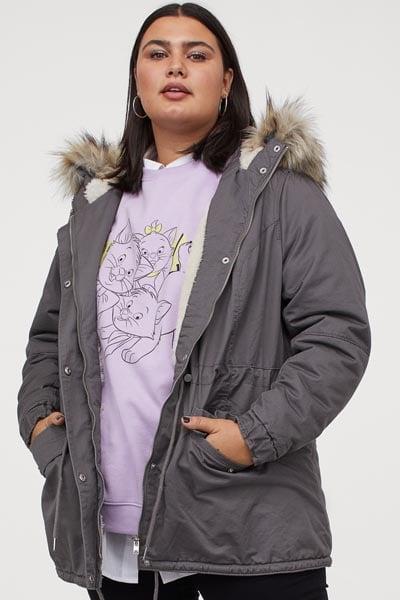Parka με γούνα στην κουκούλα σε μεγάλα μεγέθη - H&M