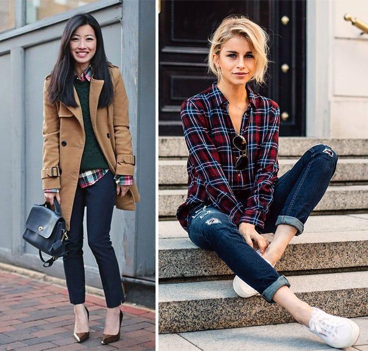 Συνδυασμοί με καρό πουκάμισο και τζιν παντελόνι