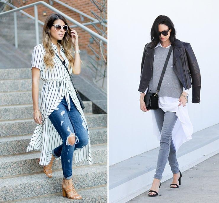 Κομψά και θηλυκά ντυσίματα με πουκαμισοφόρεμα και jean