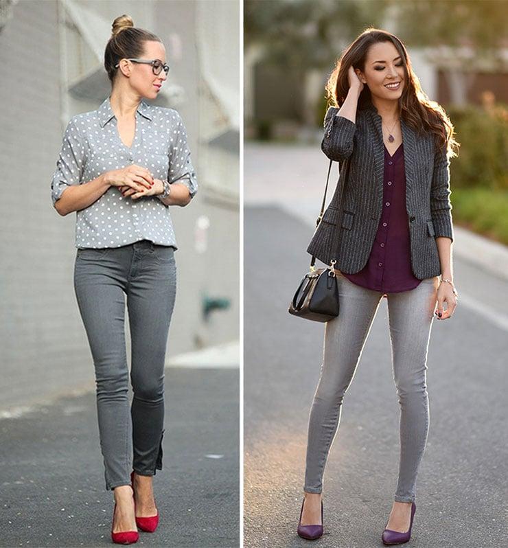 Πως να φορέσετε ένα γκρι τζιν παντελόνι
