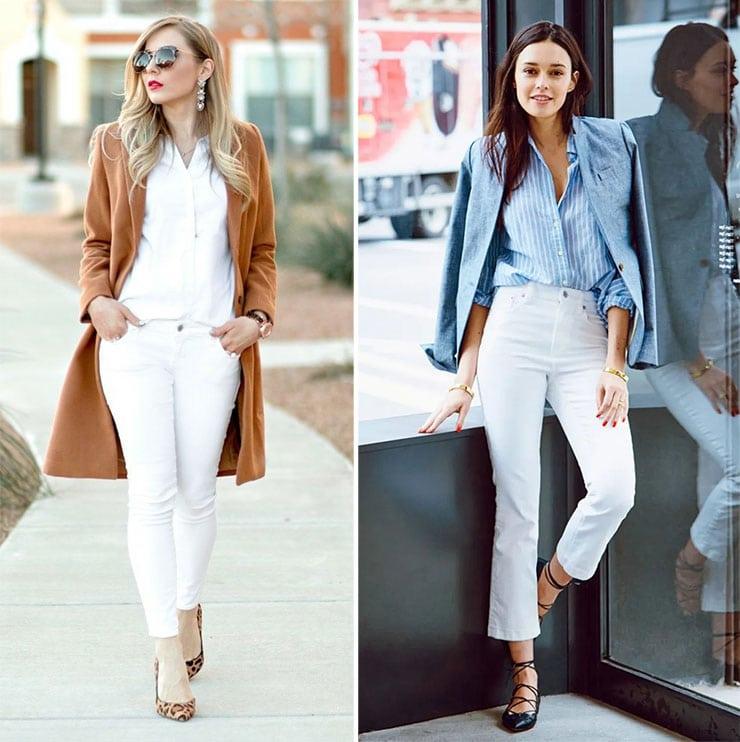 Ντύσιμο με λευκό τζιν παντελόνι