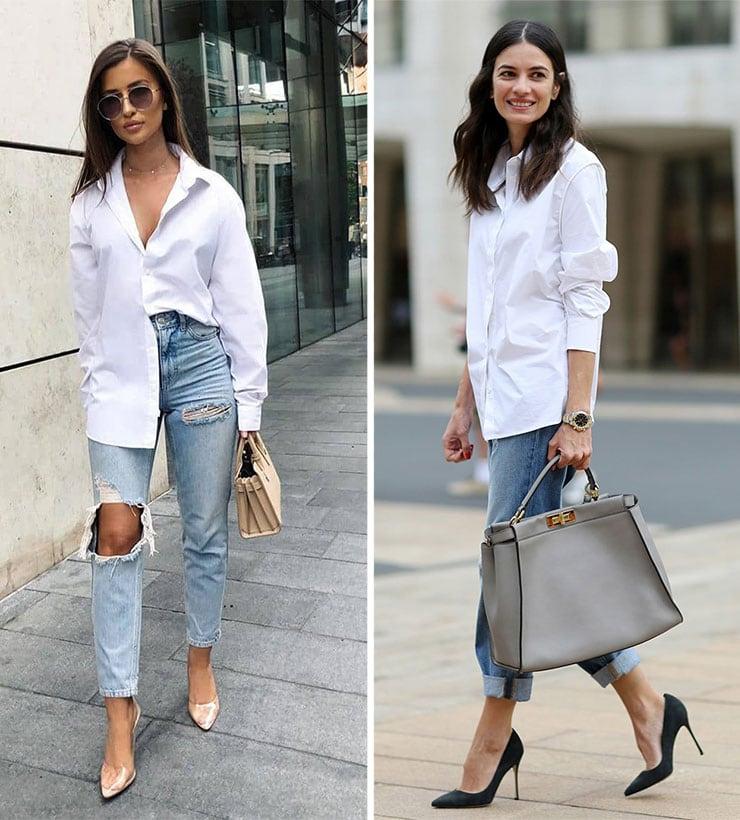 Συνδυασμοί με jean και πουκάμισο απ' έξω