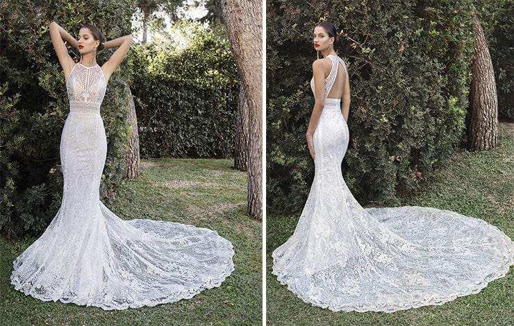 Ρομαντικό γοργονέ νυφικό φόρεμα - Demetrios