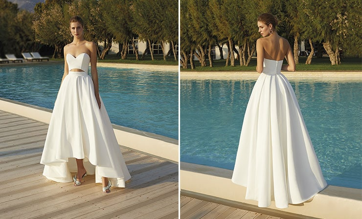 Cutout στράπλες νυφικό φόρεμα - Demetrios