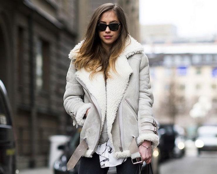 Shearling: Παλτό ή μπουφάν με επένδυση γούνας προβάτου