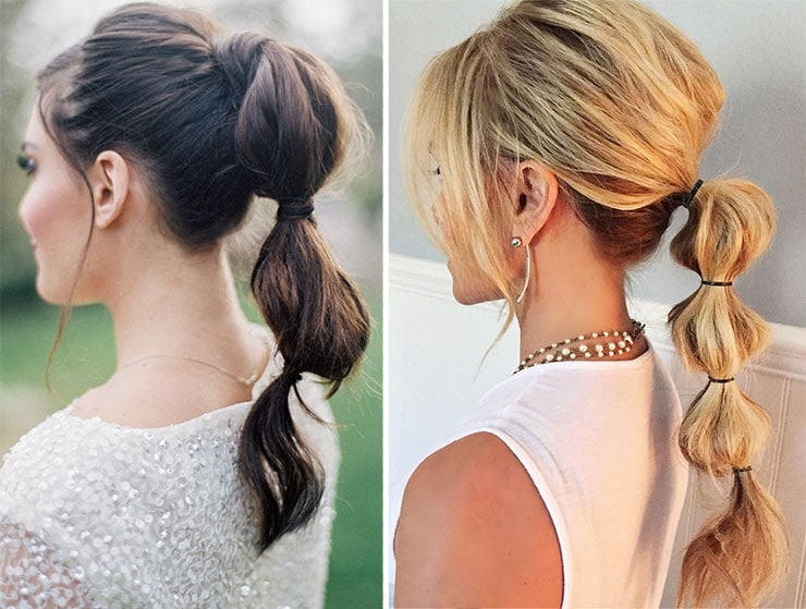 Bubble ponytail για χαλαρές εμφανίσεις