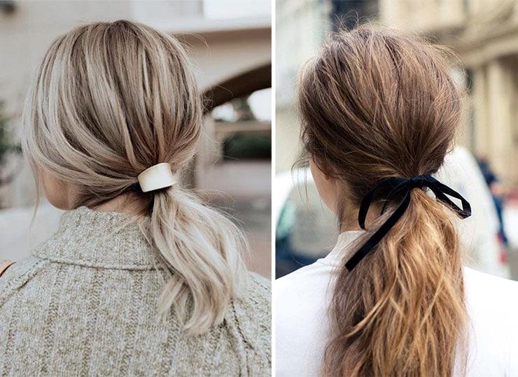 Πρακτικά ponytails στολισμένα με κορδέλα ή αξεσουάρ μαλλιών