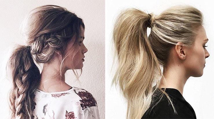 Messy πρακτικά ponytails με όγκο στο επάνω μερος