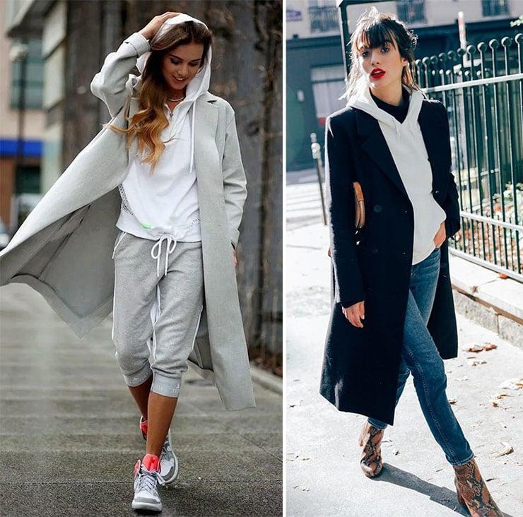 Πως να φορέσεις ένα φούτερ με παλτό