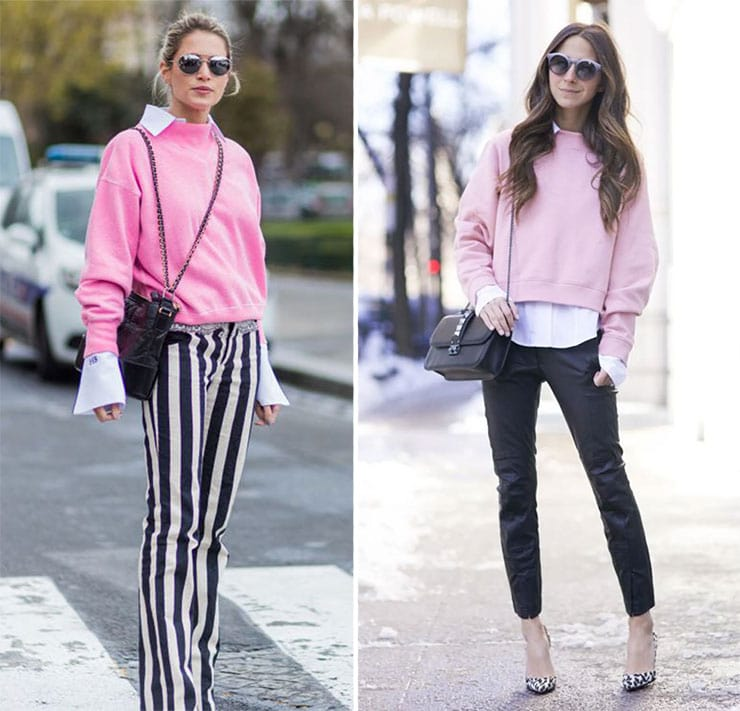 Chic συνδυασμοί με φούτερ και πουκάμισο από μέσα