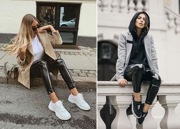 Sporty chic ντύσιμο με βινύλ κολάν