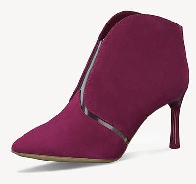 Cranberry στιλέτο ankle boots με διαφάνεια / Tamaris
