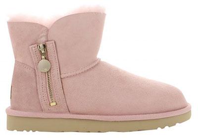 Ugg ροζ χαμηλά μποτάκια με φερμουάρ / Kalogirou