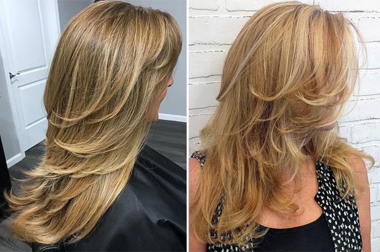 Cortes de cabelo compridos com detalhes que farão você parecer mais jovem (2)