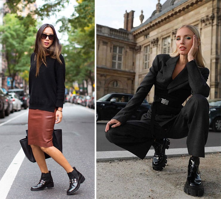 Trendy ντυσίματα με μποτάκια τύπου chelsea boots