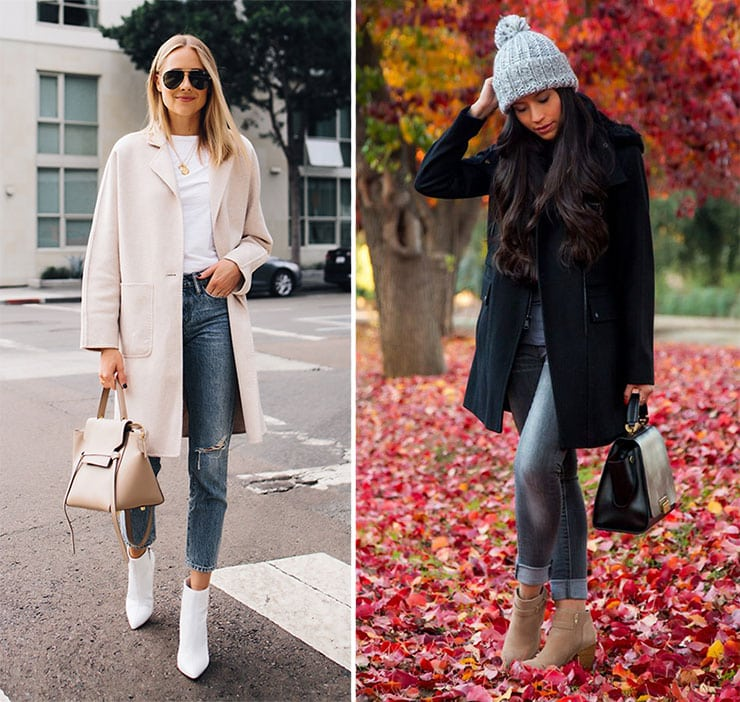 Casual chic outfit με τζιν και μποτάκια