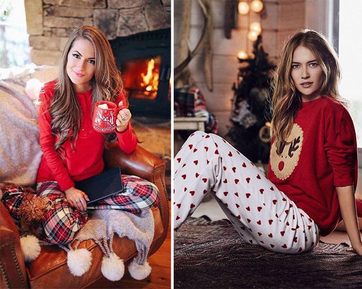 Χαλαρό ντύσιμο με πυτζάμες για το ρεβεγιόν στο σπίτι