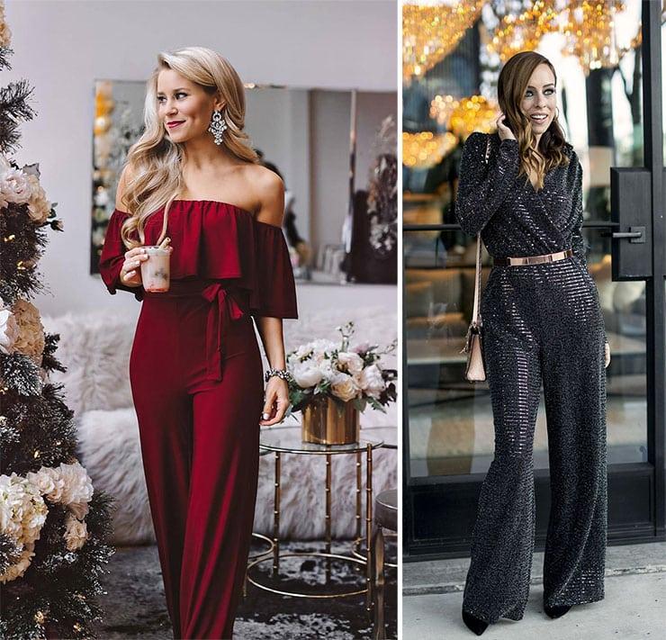 Γιορτινό outfit με ολόσωμη φόρμα για το ρεβεγιόν στο σπίτι
