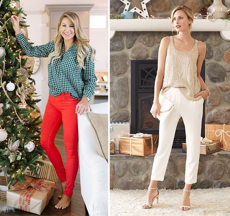 Chic σύνολα με παντελόνι για τα Χριστούγεννα και την Πρωτοχρονιά