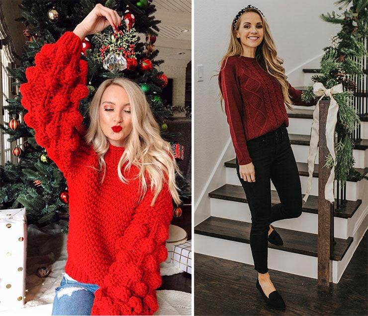 Casual chic σύνολο με πουλόβερ για το ρεβεγιόν στο σπίτι
